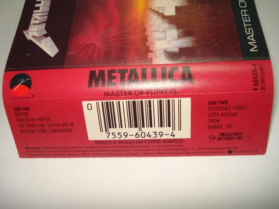 Metallica Master Of Puppets Cassette Usa De Coleccion 1986