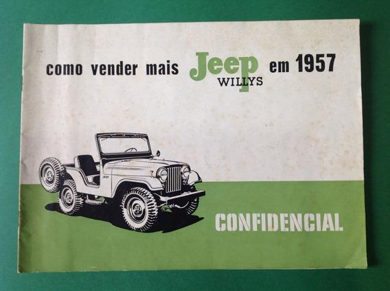 Livreto Promocional Concessionaria Jeep Willys 57 - Original