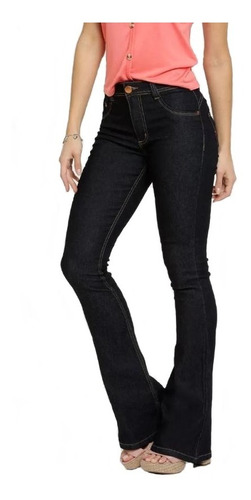 Calça Jeans Flare Feminina Biotipo Lisa Básica Confortável