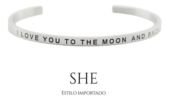 Pulsera Acero Love You To The Moon And Back
