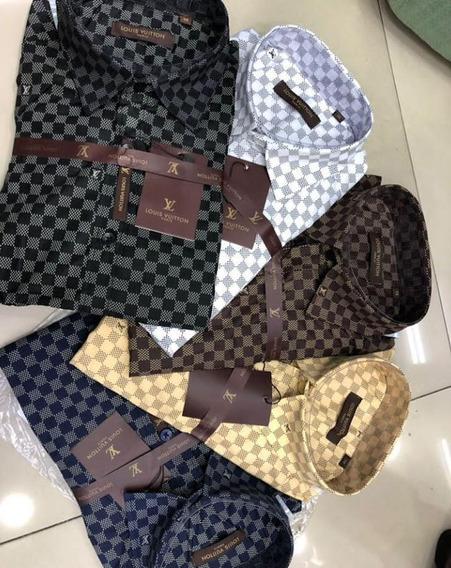 Camisa Social Louis Vuitton Lançamento - Ótima Qualidade
