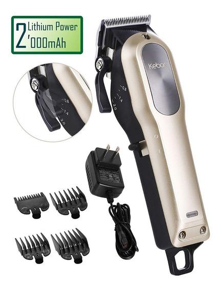 Máquina Cortar Cabelo E Barba Kebor Sem Fio Bateria Clipper