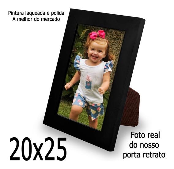 3 Uni Porta Retratos Liso Laqueado Moldura 20x25 C/ Vidro