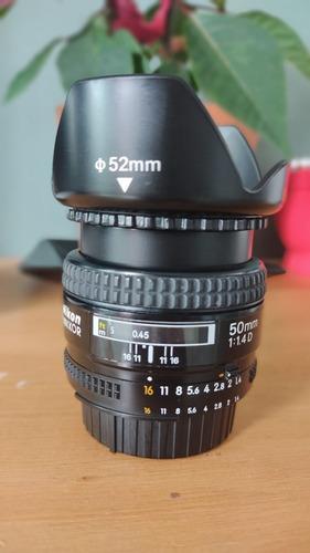 Lente Nikon 50mm 1.4 D Serve Full Frames