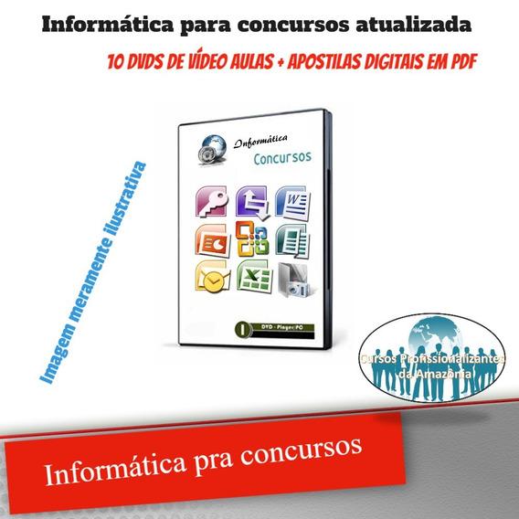 Curso Informática Para Concursos 10 Dvds Vídeo Aula Z25