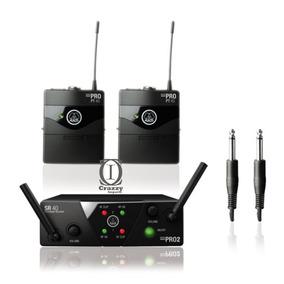 Akg Wms 40 Pro Mini 2 Transmissor Instrumentos S/fio +brinde