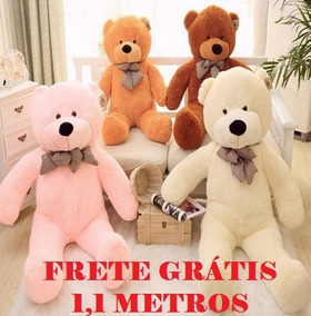 Urso Gigante Teddy Bear 110cm Cheio 1 Metro Fofinho, Macio