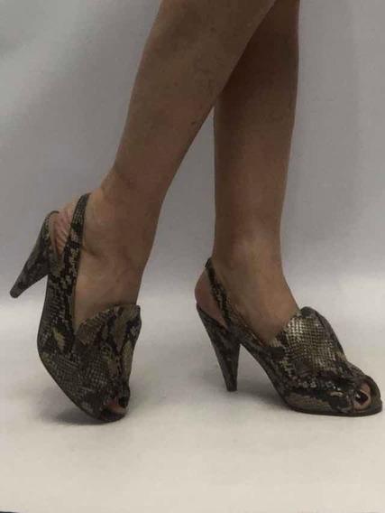 Zapatos Sandalias Mujer Nro 36 Maria Cher Reptil Igualanuevo