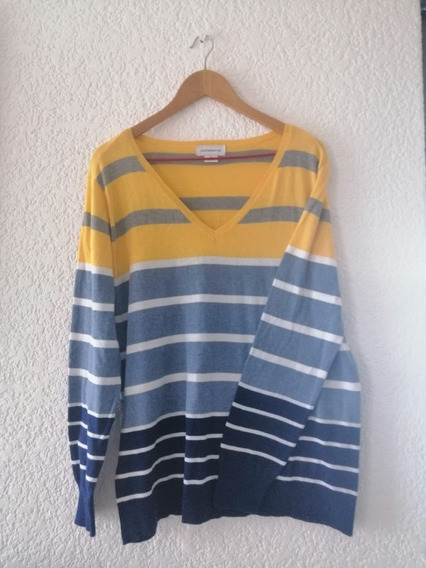 Sweater Liz Claiborne Azul Y Amarillo