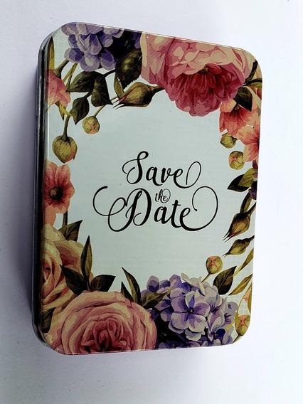 Caja Metálica Save The Date Alhajero Pastillero