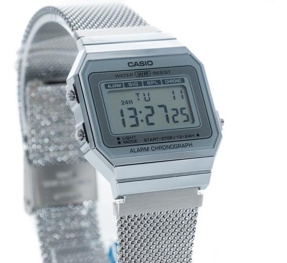 Relógio Feminino Casio Vintage A700 Prata Original Promoção