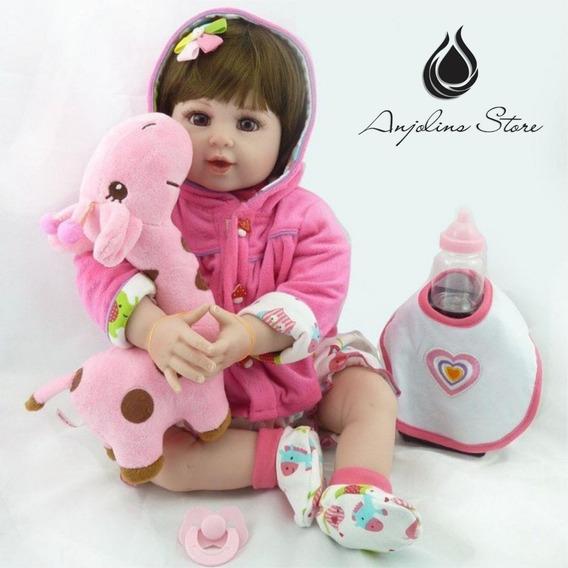 Boneca Bebê Reborn Realista 47cm/55cm