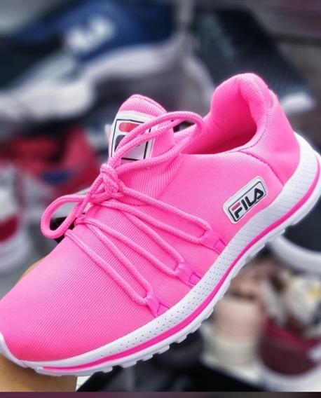 Tênis Feminino Super Confortável Amarelo/pink Pronta Entrega