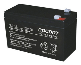 Batería Epcom De 12 V, 7 Ah, Con Tecnología Agm / Vrla