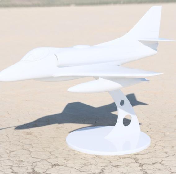 Avión A4 Impreso En 3d.