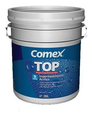Impermeabilizante Comex Top 5 Años Cubeta 19l. Terracota
