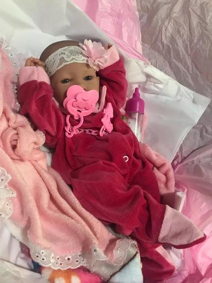 Bebê Reborn Barato Pronta Entreg Menina Corpo Silicone 38cm