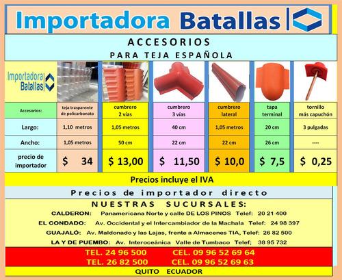 Accesorio Teja Española Pintura Duelas Acero Tol Sintra T9