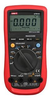 Tester Multímetro Unit Ut61c Temp. Capacitancia Frecuencia