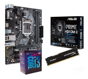 Kit 8ª Ger Asus H310m-e + Core I3-8100 + 8gb Ddr4 2400mhz