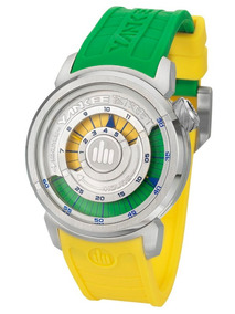Relógio Yankee Street Analógico Ys38196g Verde/amarelo