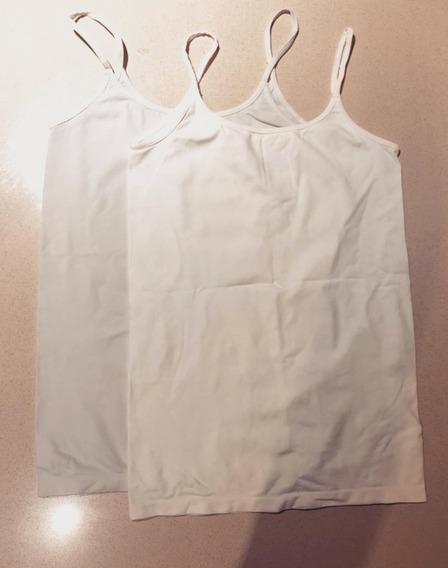Kit 2 Musculosas Basica Blanca