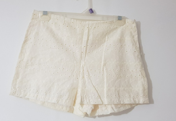 Short Broderie Color Crema