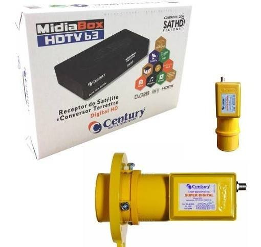 Receptor Midiabox B3 Com Lnbf Monoponto Super Digital C Este