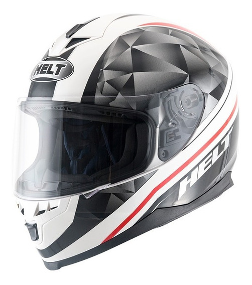 Capacete Motociclista Helt New Race Carbo White Preto Branco