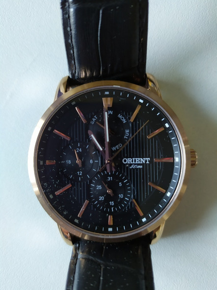 **** Relógio Orient Pulseira Couro Preto ****