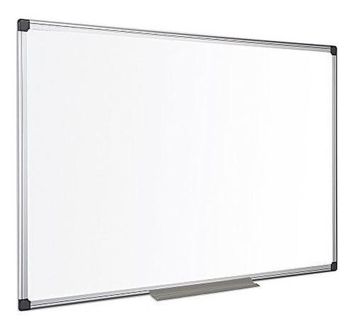 Imagen 1 de 5 de Pizarra Blanca 60 X 90 Cm Marco Aluminio + Borrador E Imanes