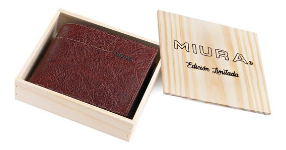 Billetera Miura Hombre Mod. Laurent 100% Cuero Diseño Sport