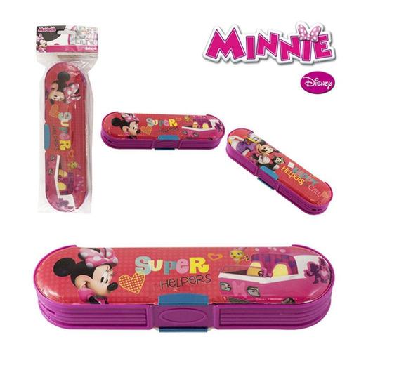 Estojo Escolar Oval Com Duas Divisórias Minnie