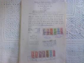 Documento Com Selos De Fiscais Do Brasil