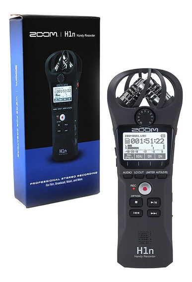 Gravador Digital Zoom H1n Profissional Stereo Recording H1 N