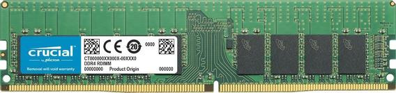 Memoria Ram 16gb Crucial Ddr4-2666 Rdimm 16gb Ddr4-2666 Rdimm 1.2v Cl19