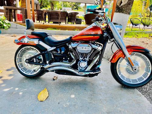 Harley Davidson Fat Boy 114 Laranja 2019