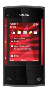Nokia Xseries X3-00 46 MB Preto/Vermelho 64 MB RAM