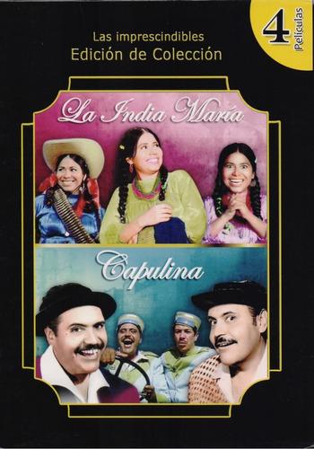La India Maria + Capulina Coleccion De 4 Peliculas Dvd