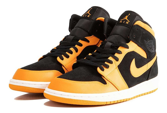 Nike Air Jordan 1 Retro Mid Orange Peel Sneakers Basket