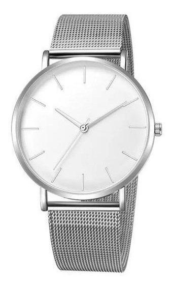 Relógio Luxo Masculino Geneva Pulso Social Pulseira Metal
