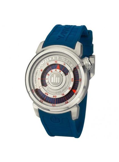 Relógio Yankee Street Unissex - Ys38196a - Cor Azul/prata