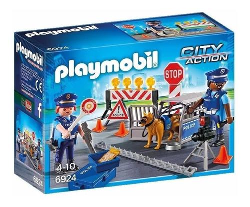 Imagen 1 de 7 de Playmobil 6924 City Action Control De Policia Original Intek