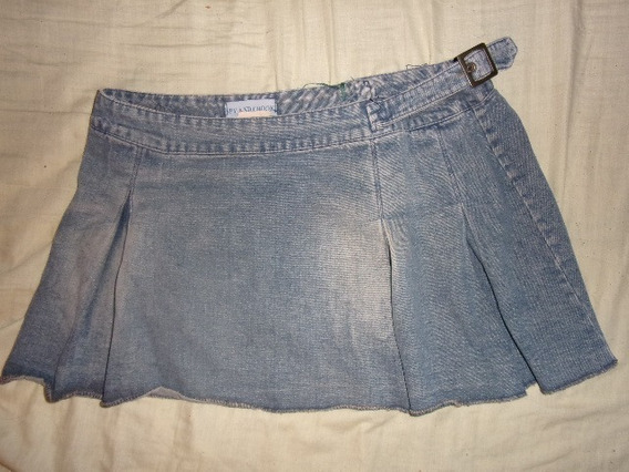 Pollera Minifalda De Jeans Para Dama, Talle L
