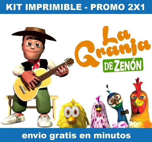Kit Imprimible Candy Bar La Granja De Zenon 2 Promo 2x1