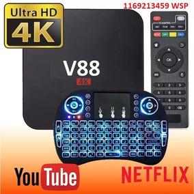 Conversor A Smart Tv + Teclado Para Tv Con Hdmi Android 7 Tv