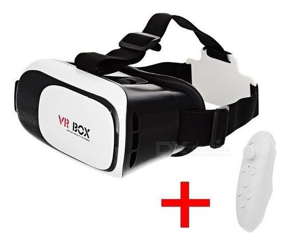 Óculos 3d Realidade Virtual 360º Graus Vr Box 2.0 + Controle