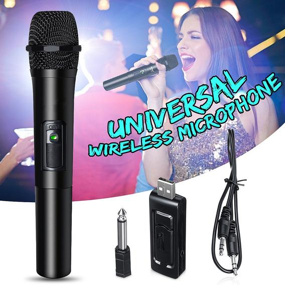 Kits De Sistema De Karaoke Microfone Sem Fio Profissional Kt