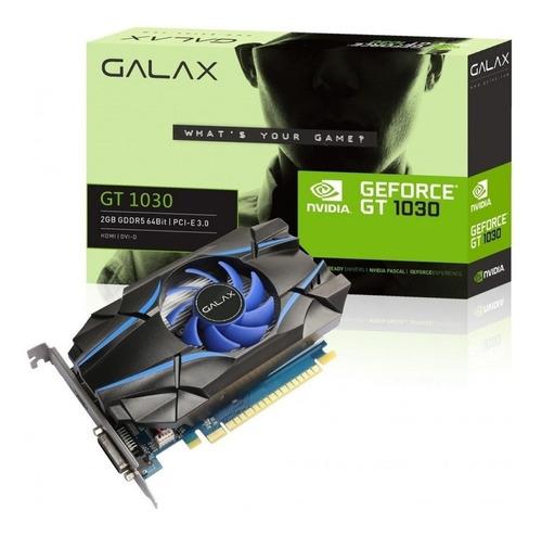 Placa de vídeo Nvidia Galax  GeForce 10 Series GT 1030 30NPH4HVQ4ST 2GB