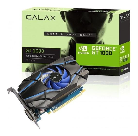 Placa de vídeo Nvidia Galax GeForce GTX 10 Series GT 1030 30NPH4HVQ4ST 2GB
